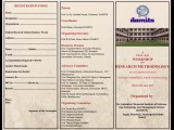 "Brochure for ""WORKSHOP ON RESEARCH METHODOLOGY"""